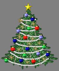 серебристая елка
